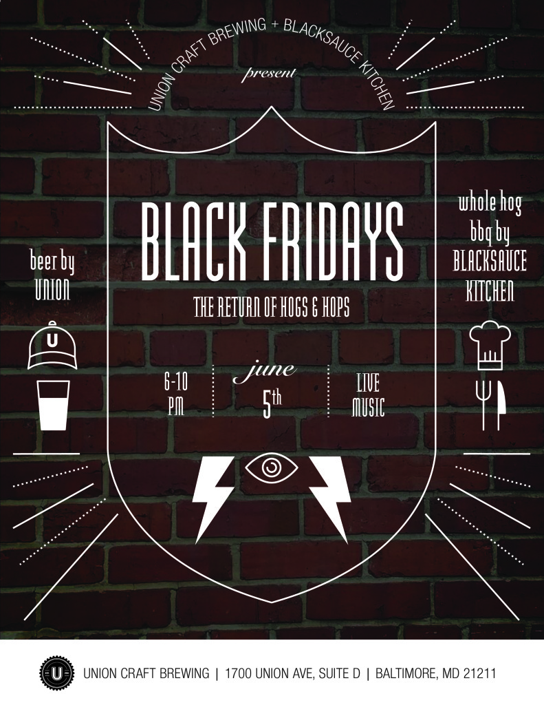 Black friday for Union craft brewing baltimore md