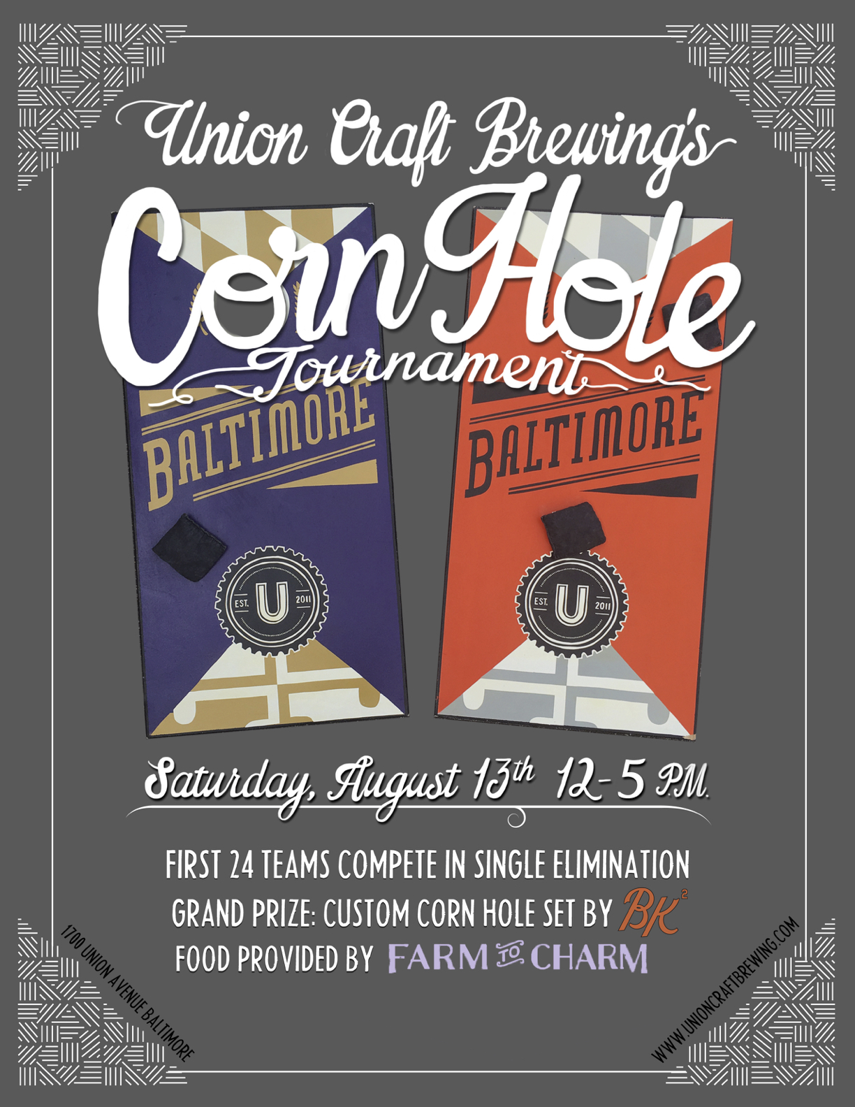 Union craft brewing union craft brewing 39 s corn hole for Union craft brewing baltimore md