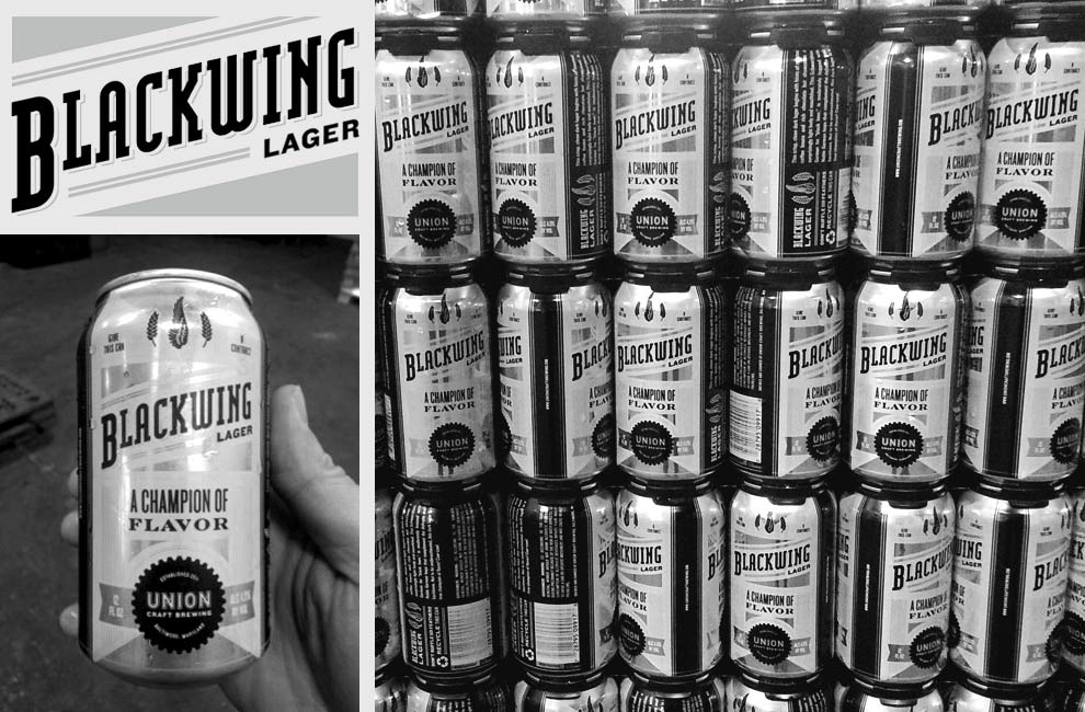 Blackwing Lager Cans - Union Craft Brewery