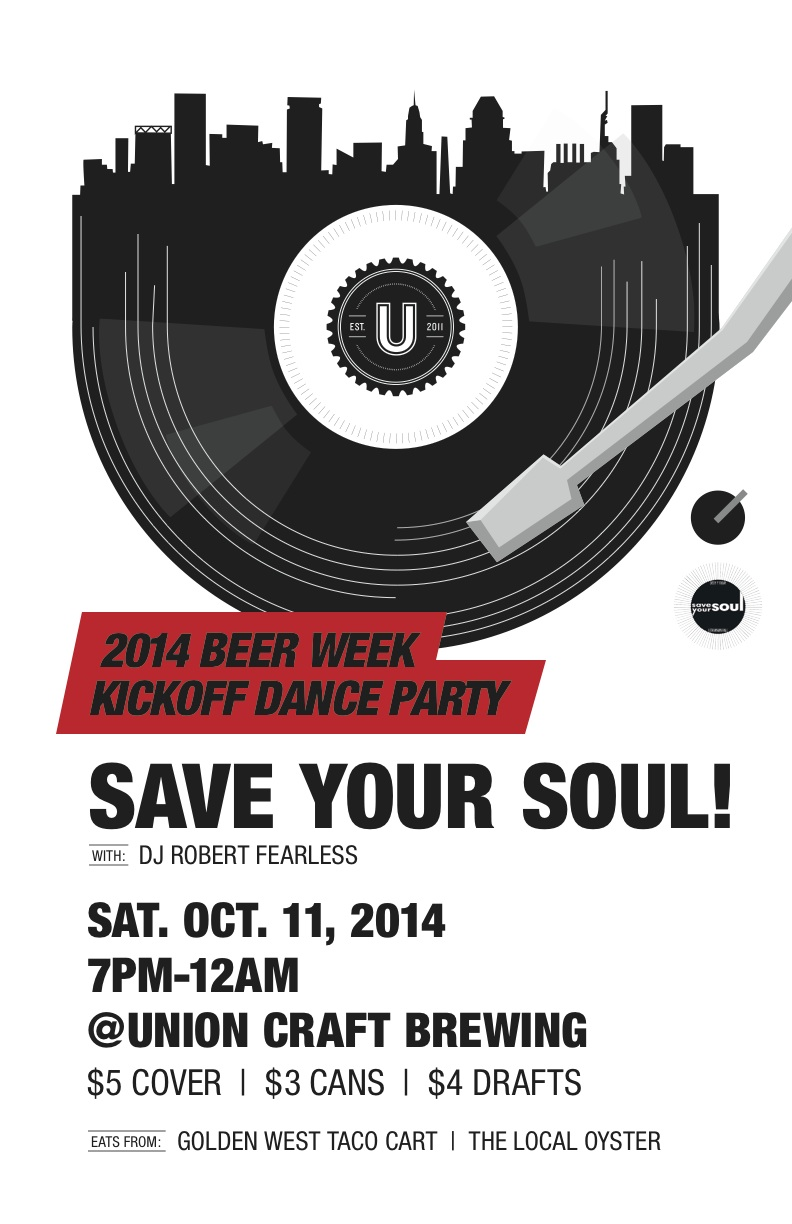 Union craft brewing beer week kickoff party w save your for Union craft brewing baltimore md