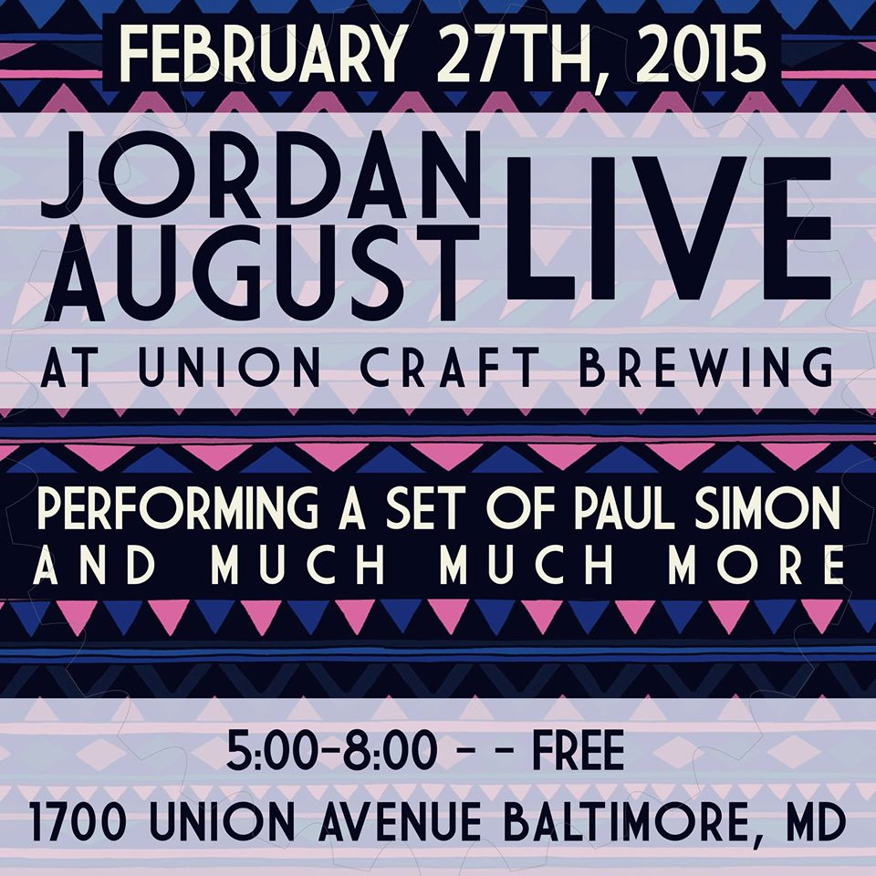 Union craft brewing jordan august solo happy hour for Union craft brewing baltimore md