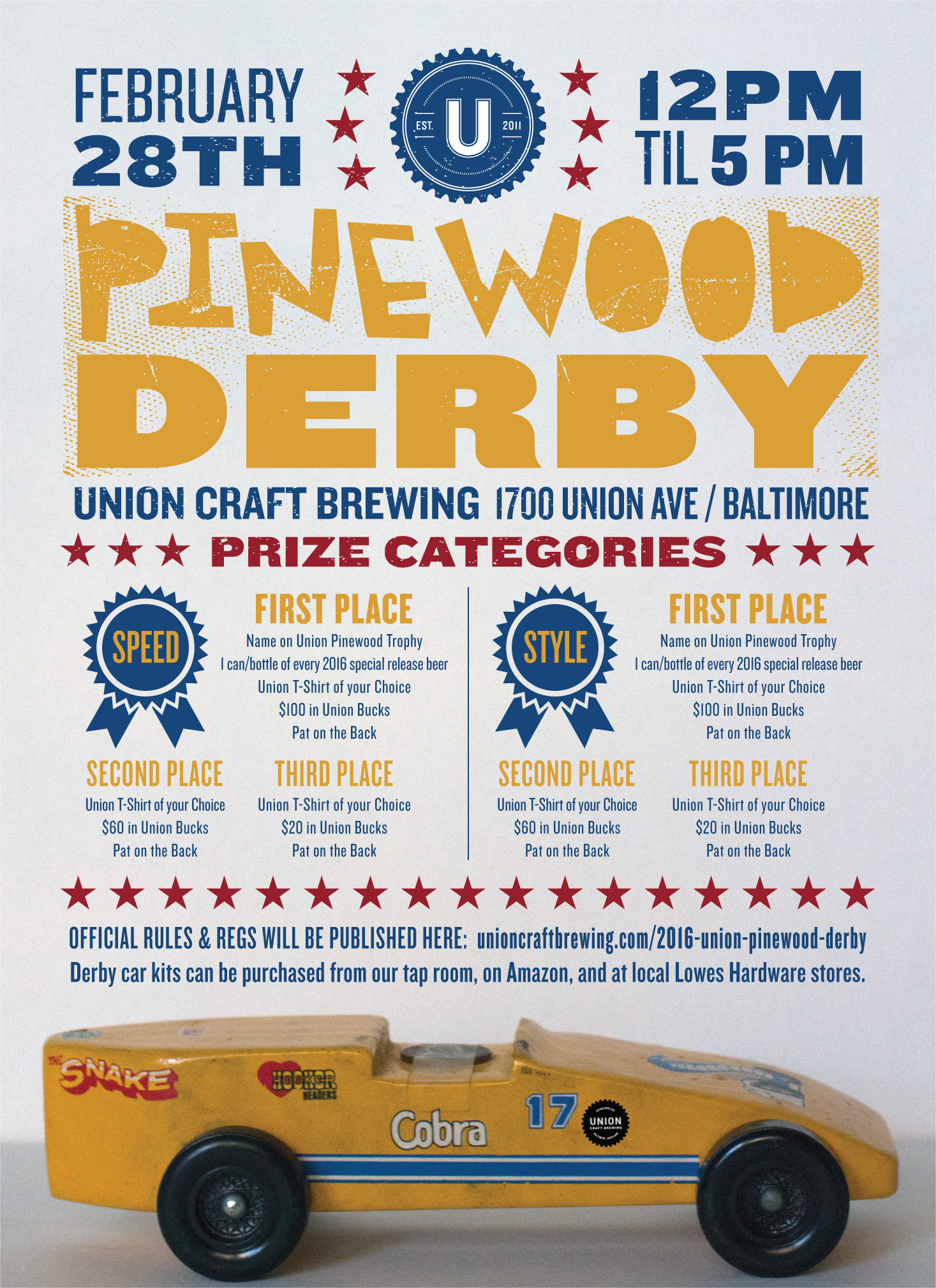 Union Craft Brewing 2016 UNION PINEWOOD DERBY - Union ...