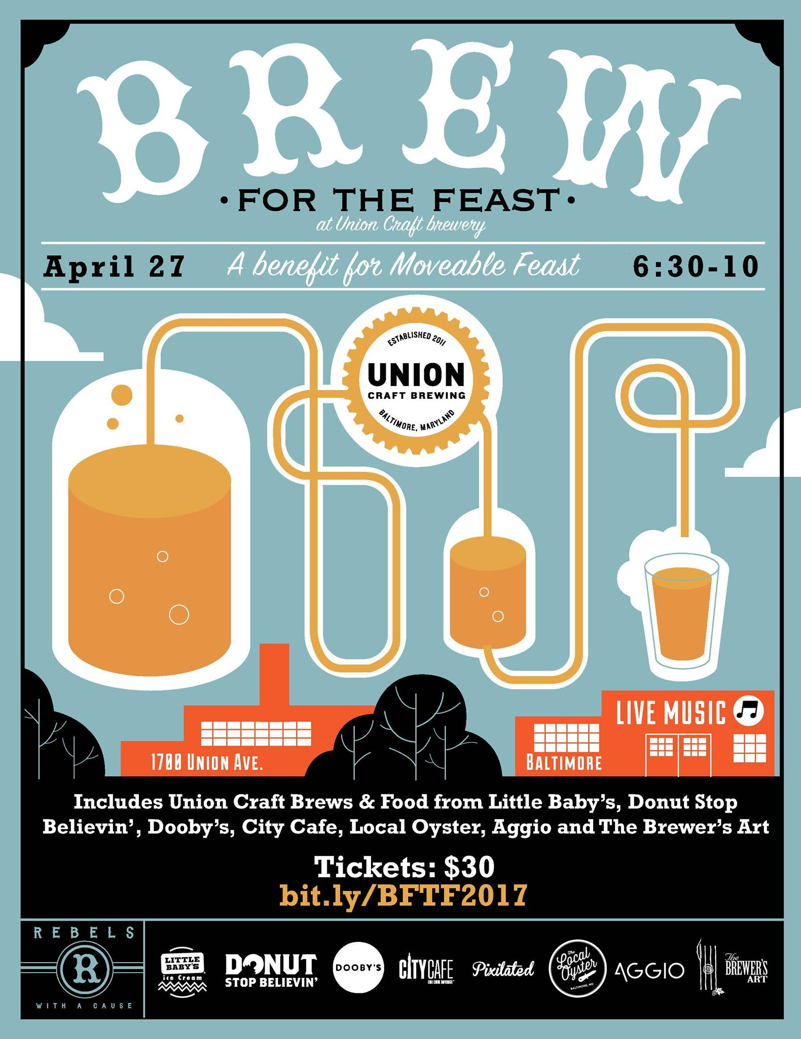 Union craft brewing fifth annual brew for the feast for Union craft brewing baltimore md